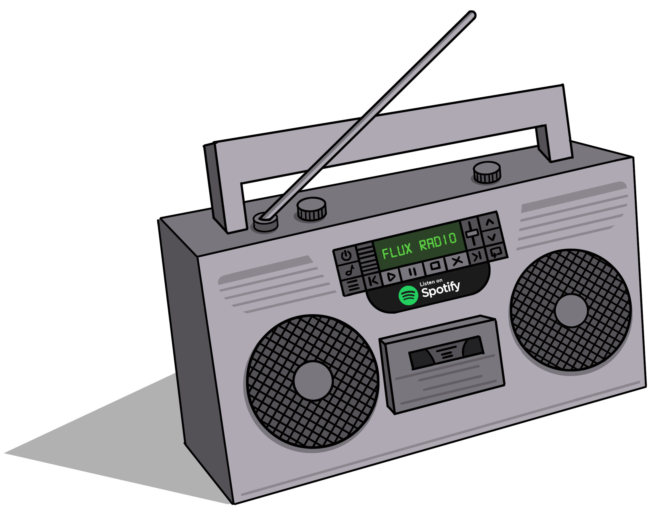 Flux Pavillion Boombox Illustration