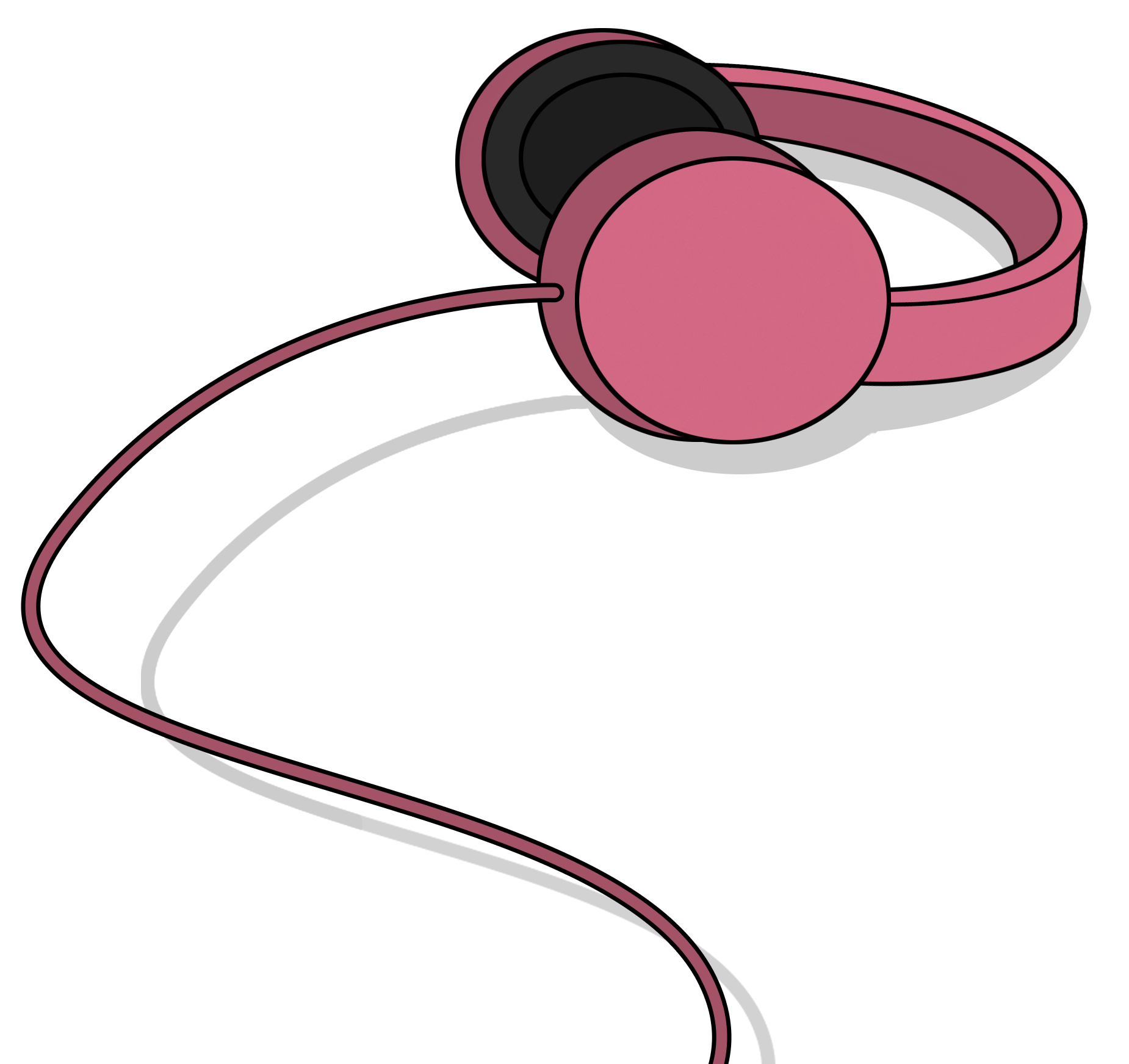 Flux Pavillion Headphones Illustration